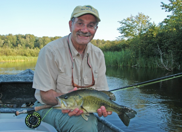 Fly anglers who enjoy smallmouth bass fishing, like Wayne Andersen shown fishing Hamlin Lake, will be able to target them all year under the expanded catch-and-immediate-release season proposed. Photo: Howard Meyerson.